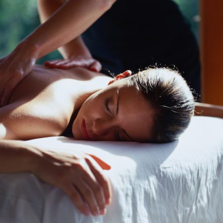 Woman Getting a Massage
