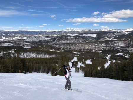 skiing at breck