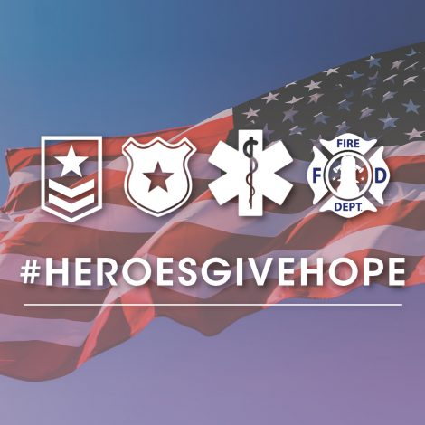 Heroes Give Hope banner