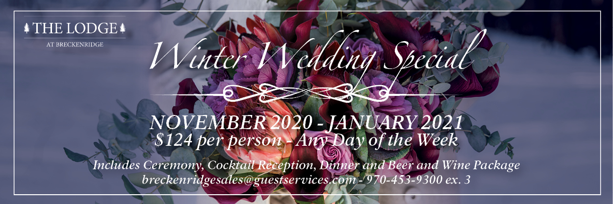 winter wedding special banner